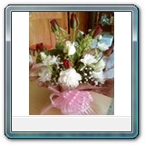 Mic-006 -  Price € 36 6 red roses and 6 white roses in a pot